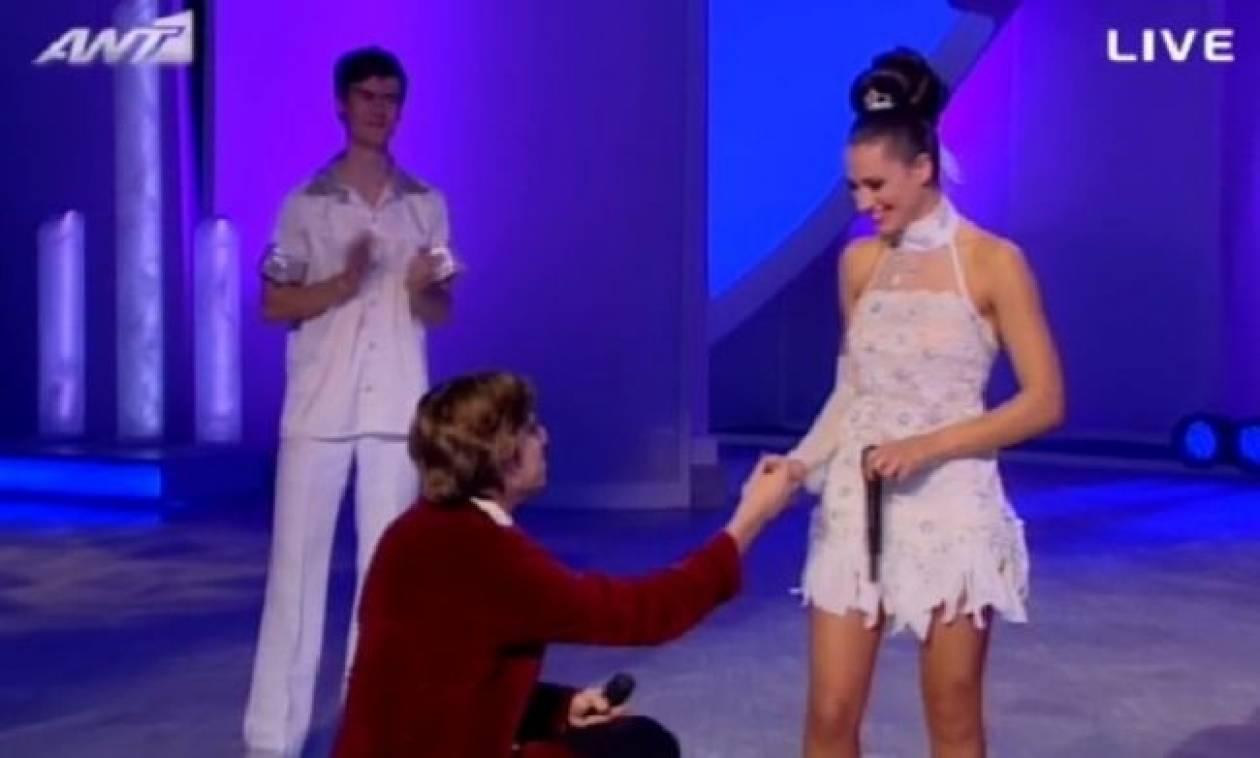 Η πρόταση γάμου του Αλεξέι στη Μαριάννα Καλλέργη on air