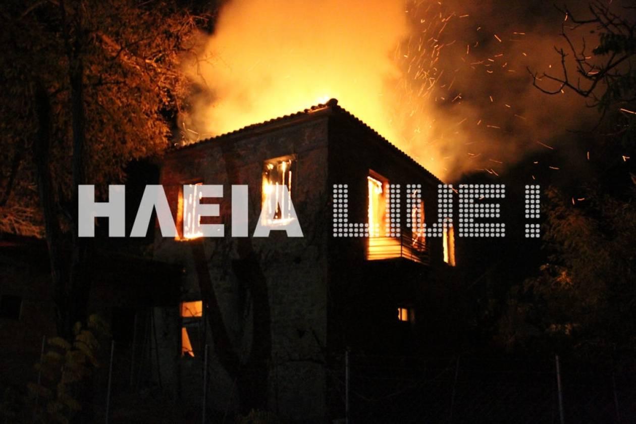 Πύργος: Έβαλαν φωτιά σε σπίτι γιατί τους κατέγραψαν κάμερες
