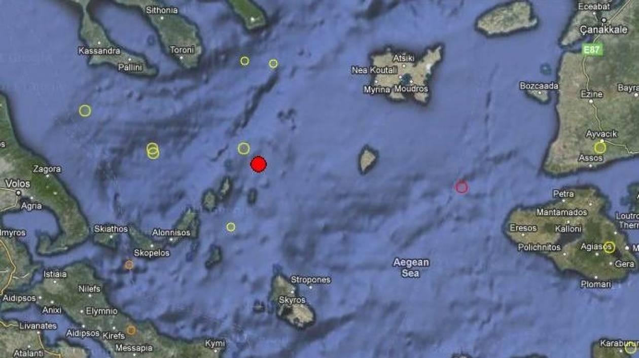 Σεισμός 4,1 Ρίχτερ στο Βόρειο Αιγαίο