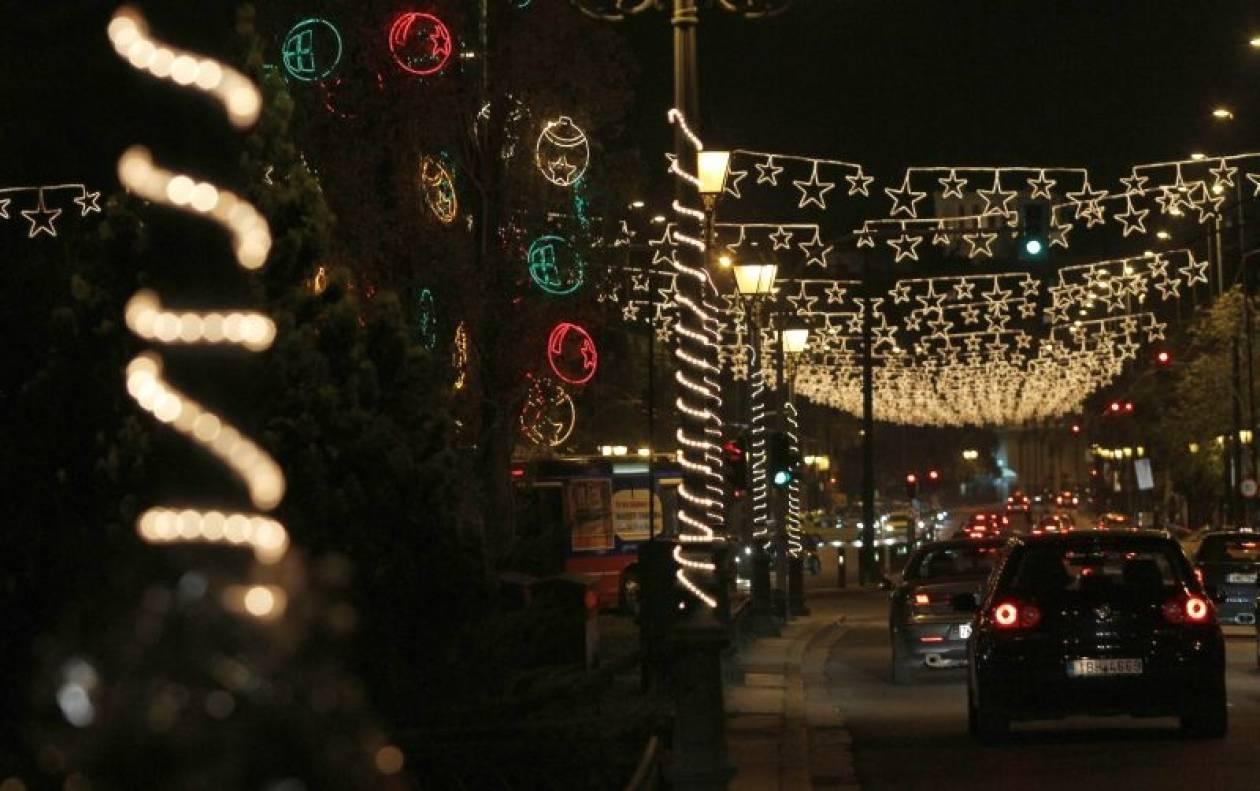 Σε ρυθμό Χριστουγέννων η Αθήνα