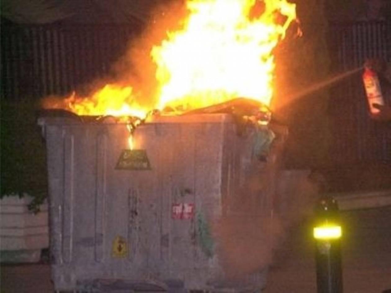 Μήνυση του δήμου Λάρισας σε νεαρούς που έκαψαν κάδους