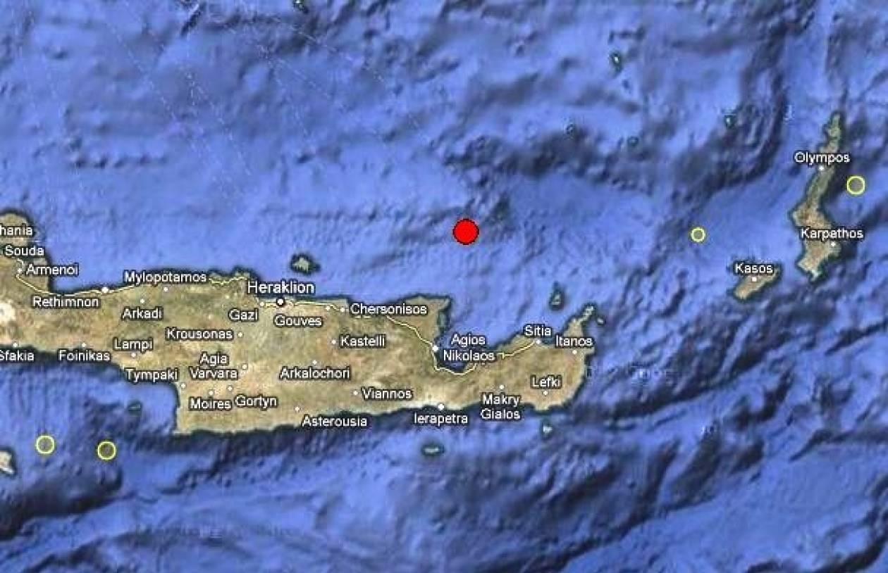 Σεισμός 3,7 Ρίχτερ βόρεια του Αγίου Νικολάου Κρήτης
