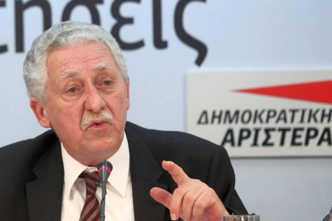 Φ. Κουβέλης: Ήττα της πολιτικής η κυβέρνηση προσωπικοτήτων
