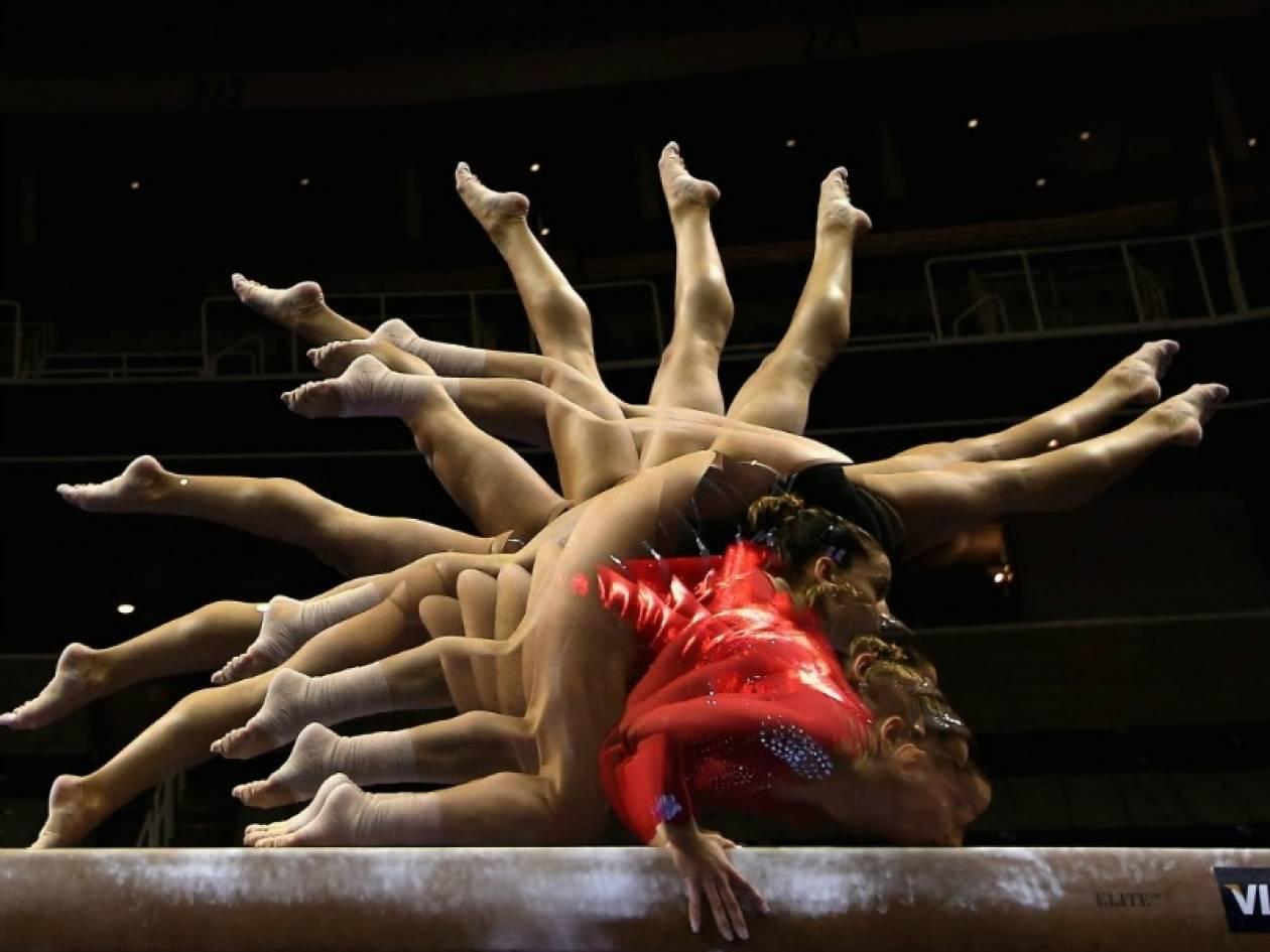 Εκπληκτικές φωτογραφίες από ασκήσεις ρυθμικής γυμναστικής