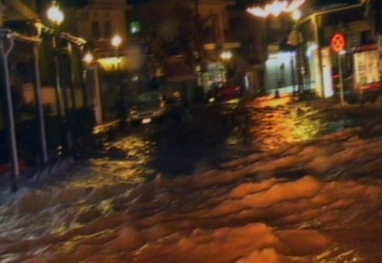 Πλημμύρισαν σπίτια στη Λέσβο