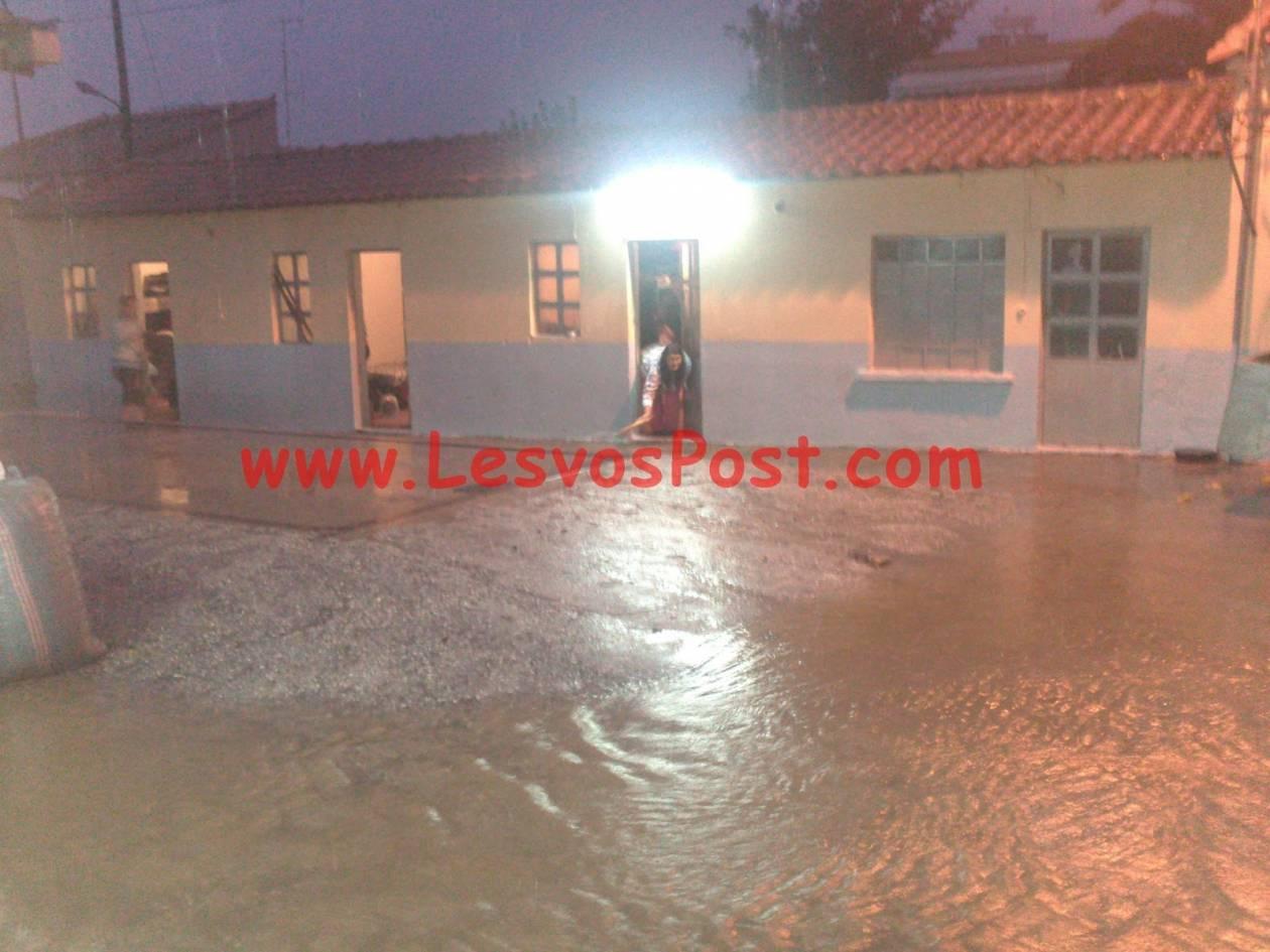 Λέσβος: Σοβαρά προβλήματα από ισχυρή βροχόπτωση