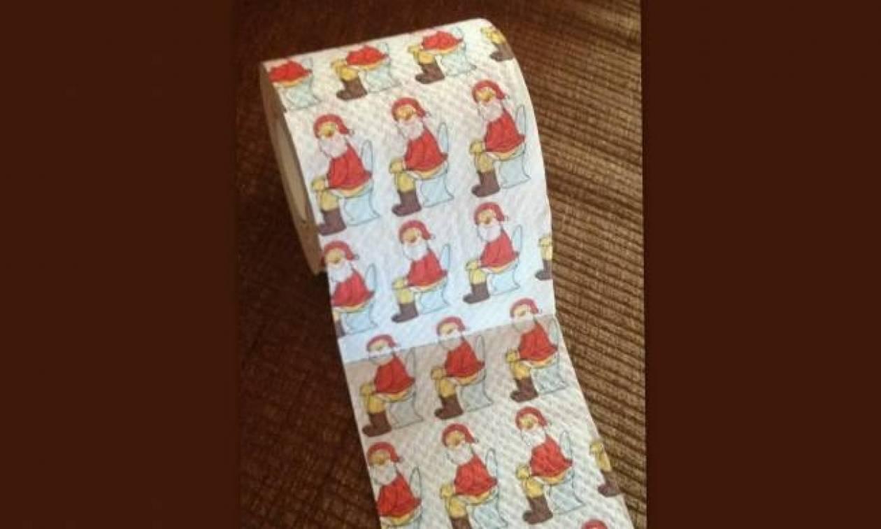 Ο Άγιος Βασίλης τώρα και σε χαρτί τουαλέτας! Ποια το χρησιμοποιεί;