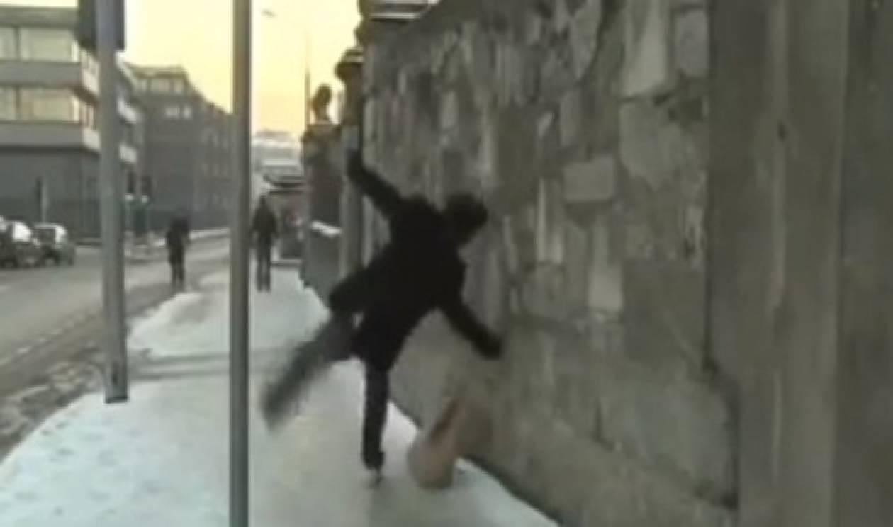 Βίντεο: Επικές τούμπες στον πάγο!