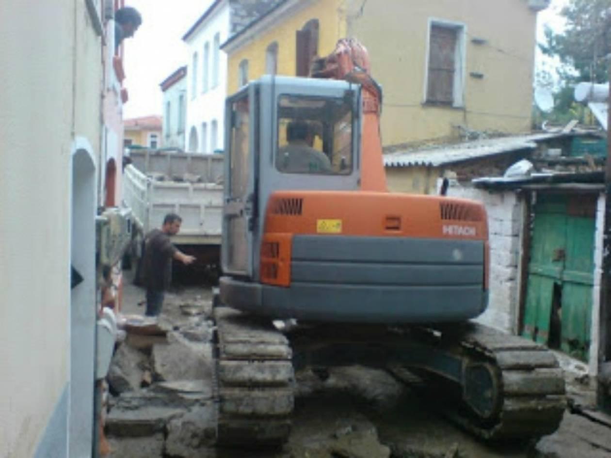 Καταστροφή στη Λέσβο - πλημμύρισαν σπίτια και μαγαζιά