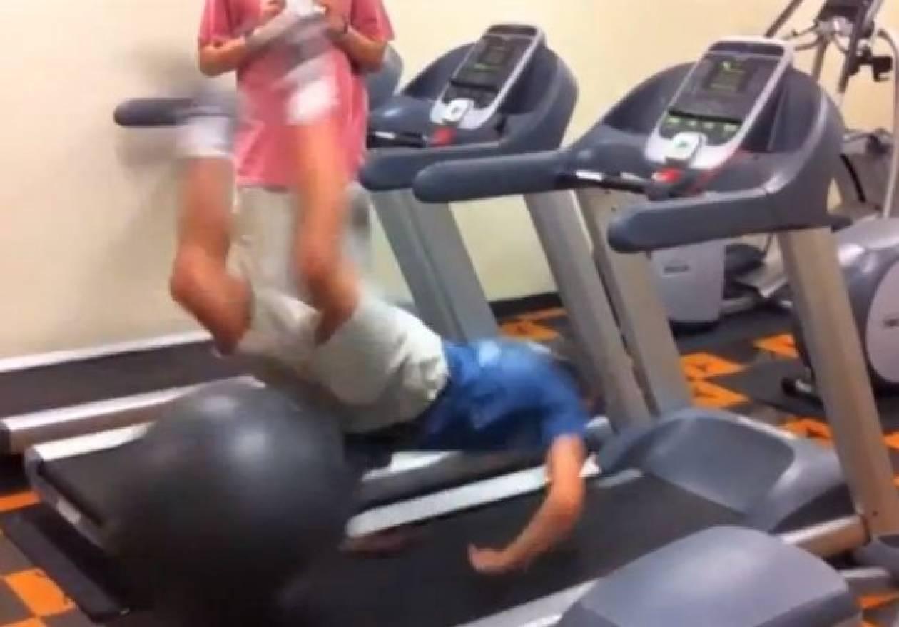 Βίντεο: Fails πάνω σε διάδρομο γυμναστικής!