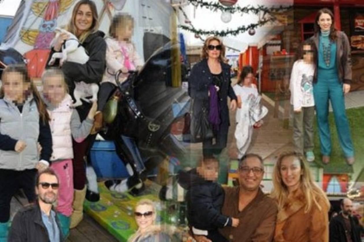 Διάσημοι γονείς με τα παιδιά τους στο χριστουγεννιάτικο χωριό 2