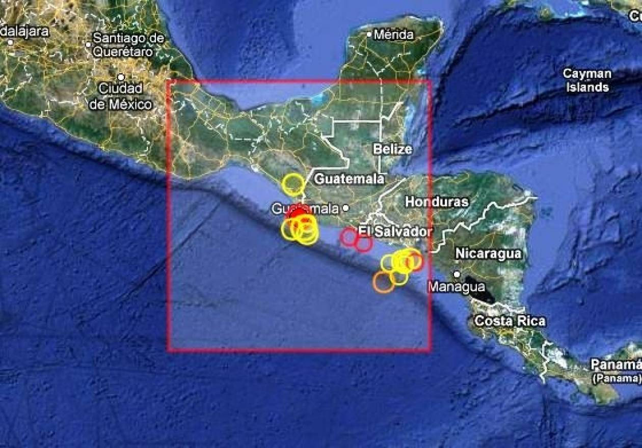 Σεισμός 5,5 Ρίχτερ στη Γουατεμάλα