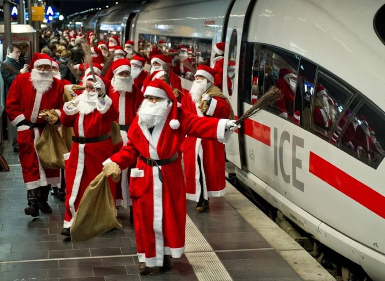 «Εισβολή» Άγιων Βασίληδων στον κεντρικό σταθμό της Φρανκφούρτης