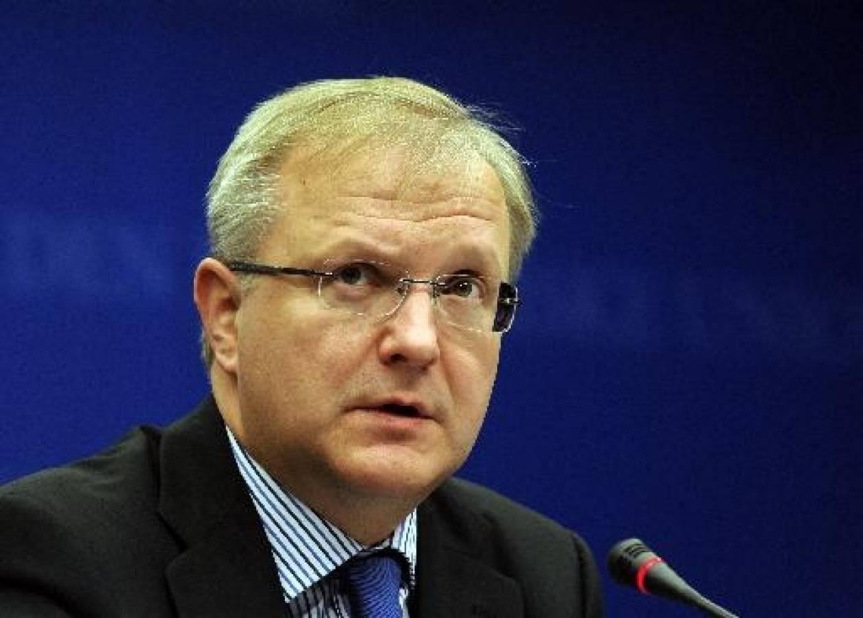 Όλι Ρεν: Η κρίση στην Ευρωζώνη αποκλιμακώνεται