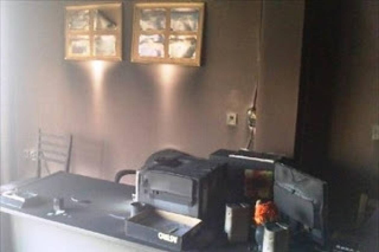 Λουτράκι: 'Eβαλαν φωτιά σε γραφείο καθηγητών Λυκείου