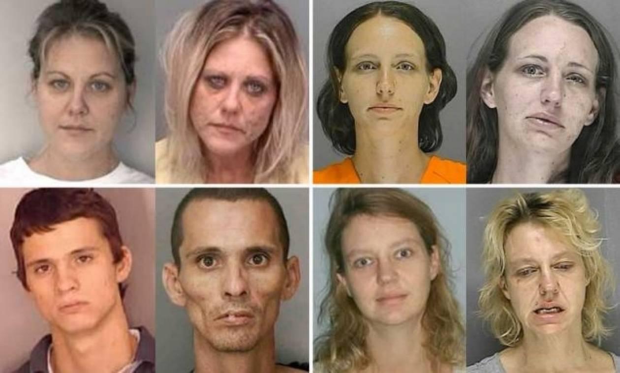 Εικόνες-ΣΟΚ: Δείτε πως έγιναν αυτοί οι χρήστες μεθαμφεταμίνης
