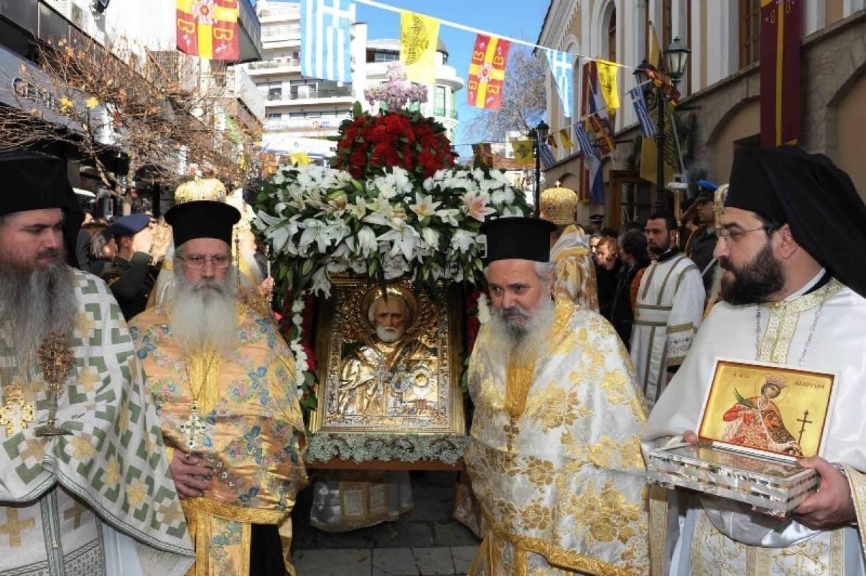 Βίντεο: Με λαμπρότητα οι εκδηλώσεις για τον Άγιο Νικόλαο στην Κοζάνη