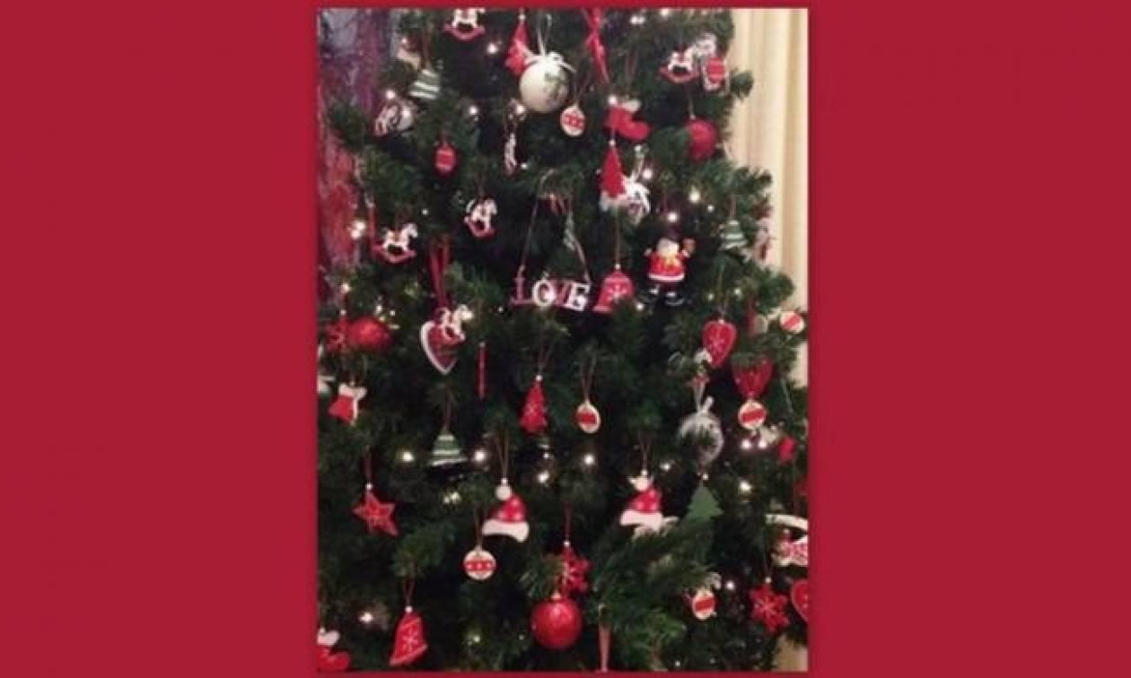 Ποια παρουσιάστρια στόλισε αυτό το υπέροχο δέντρο;