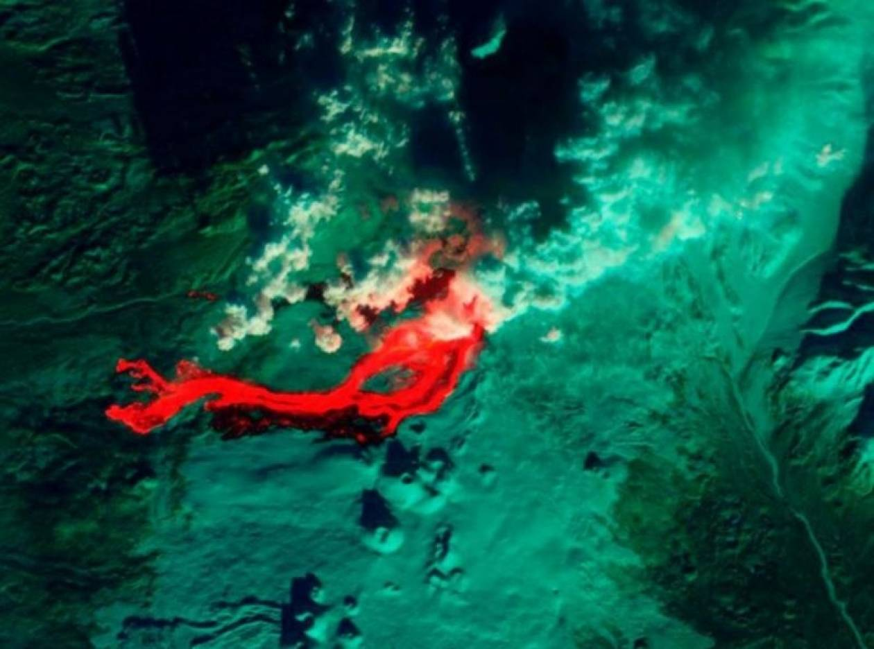 Δείτε πώς φαίνεται η ηφαιστειακή λάβα από το διάστημα