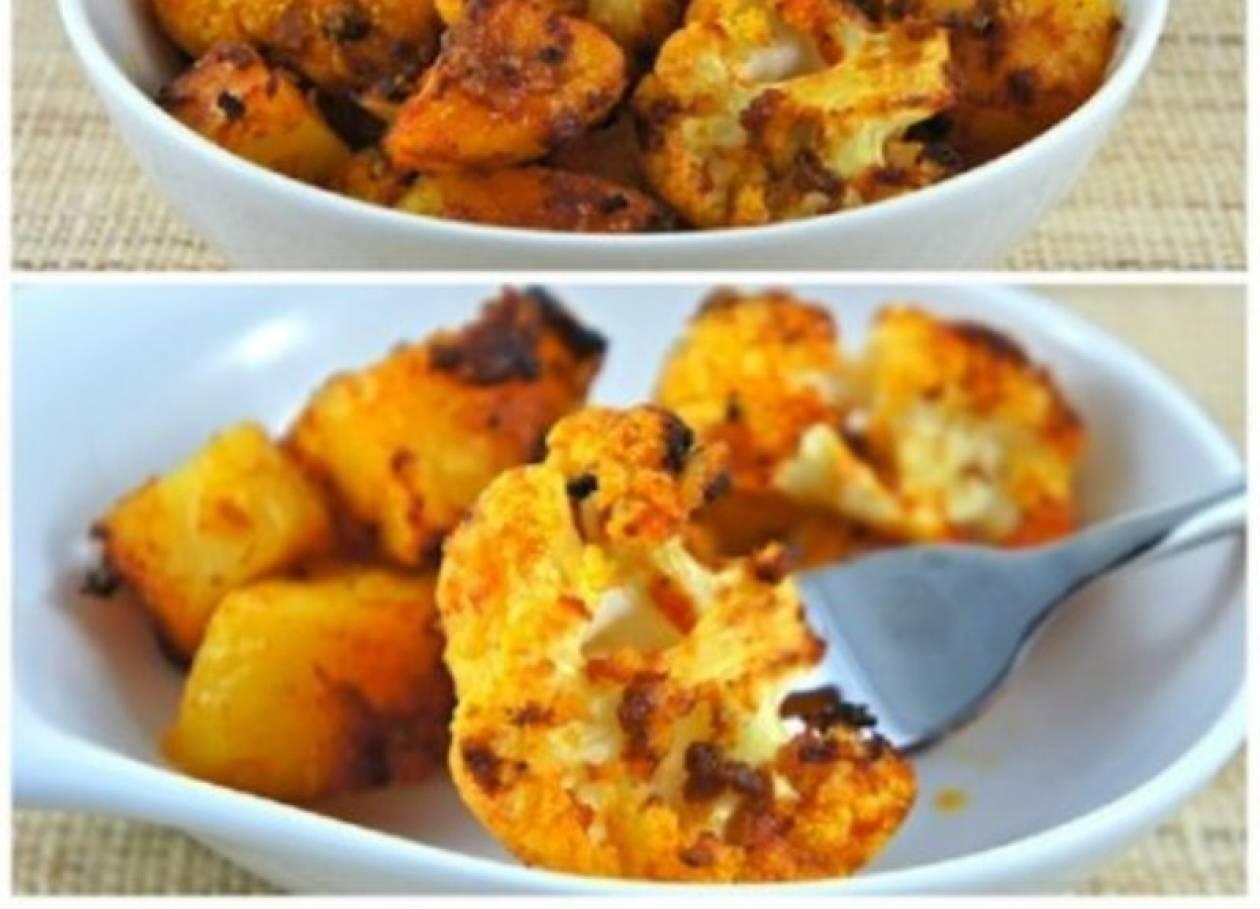 Ένα... διαφορετικό μπρόκολο, με μπαχαρικά και πατάτες στο φούρνο