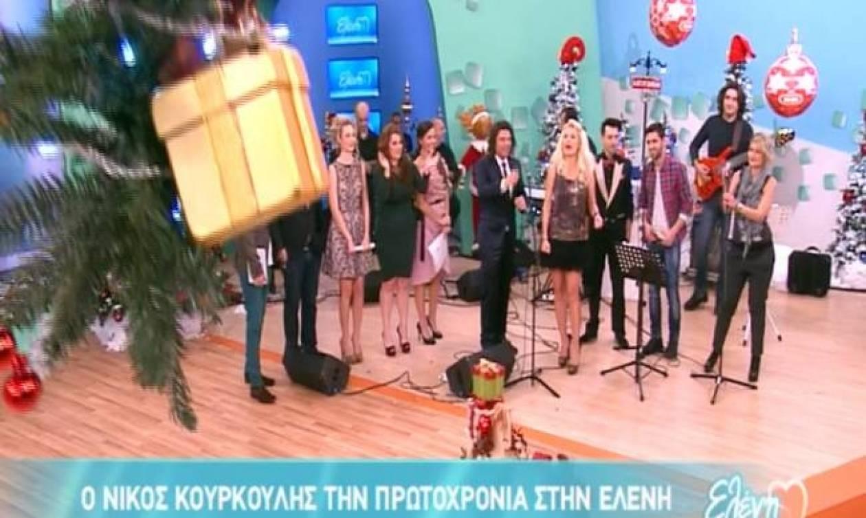 Η Μενεγάκη γύριζε την Πρωτοχρονιάτικη εκπομπή και βγήκε «αέρα» σήμερα!