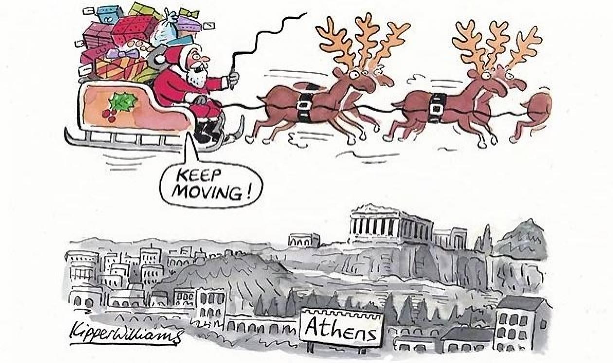 Guardian: Ο Άγιος Βασίλης δεν... σταματάει φέτος στην Ελλάδα