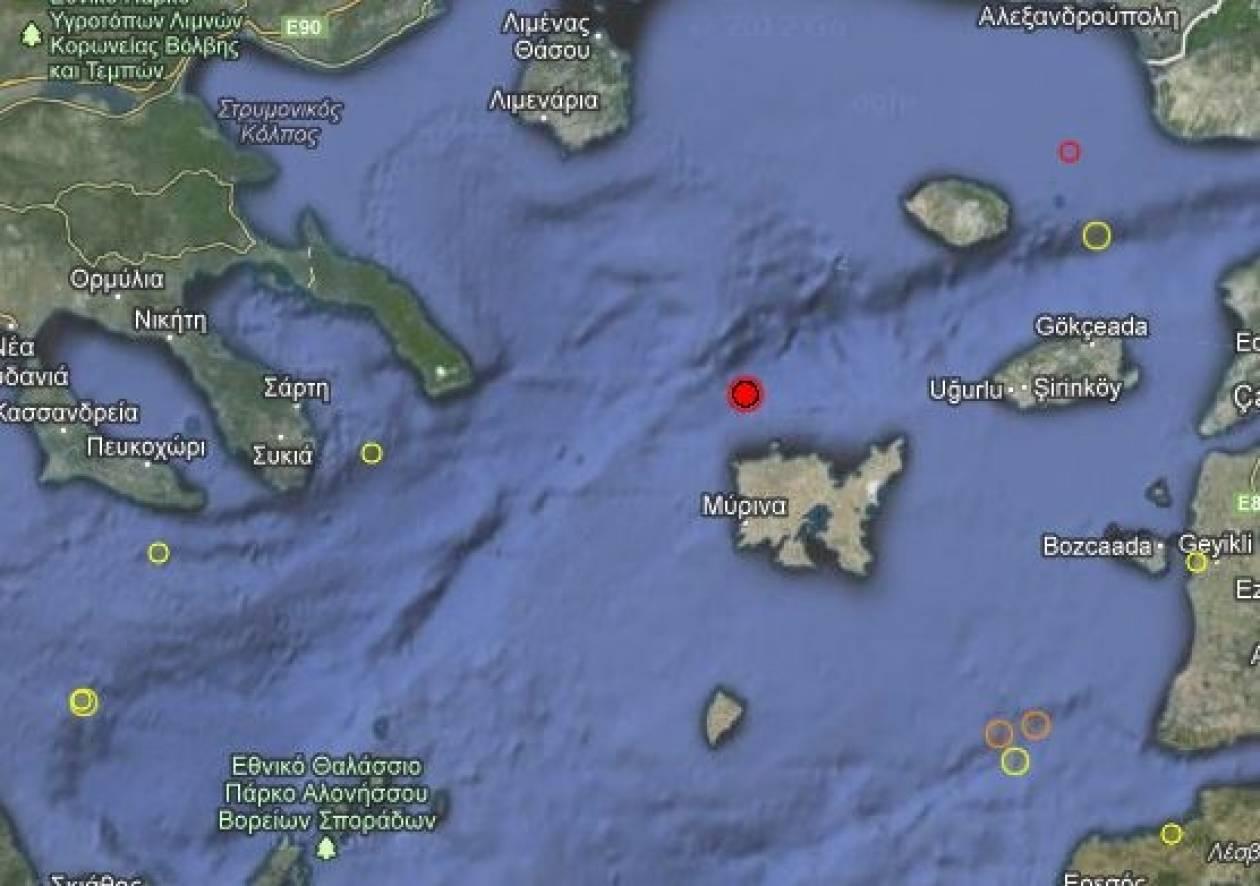Σεισμός 3,8 Ρίχτερ βόρεια της Λήμνου