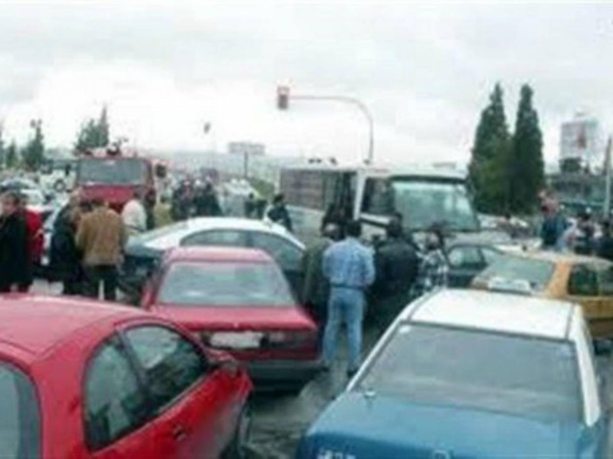 Καραμπόλα τεσσάρων αυτοκινήτων στο Ηράκλειο