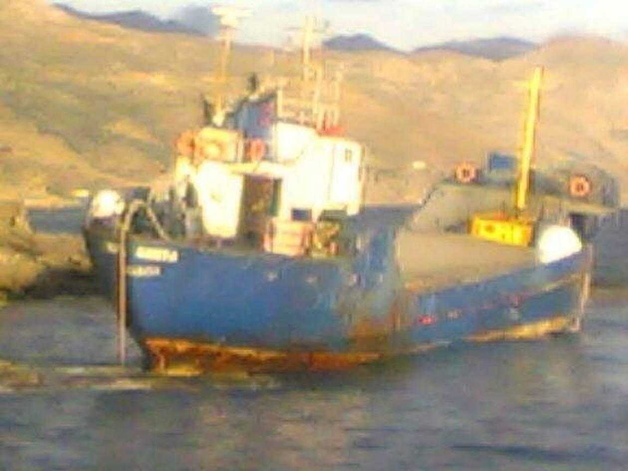 Θρίλερ με το πλοίο που προσάραξε στην Κρήτη (pics)