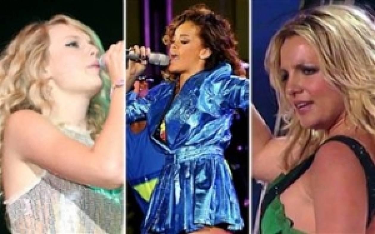 Oι πιο ακριβοπληρωμένες τραγουδίστριες στον κόσμο