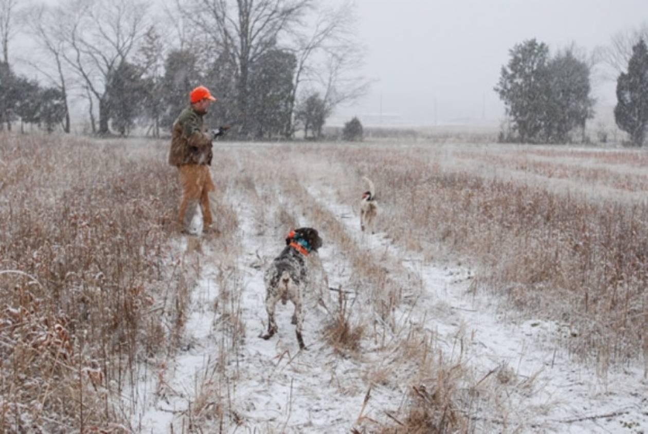 Aπαγόρευσαν το κυνήγι λόγω… χιονόπτωσης!
