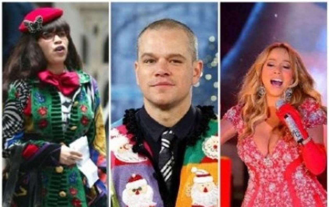 Τα χειρότερα Χριστουγεννιάτικα outfits των celebrities