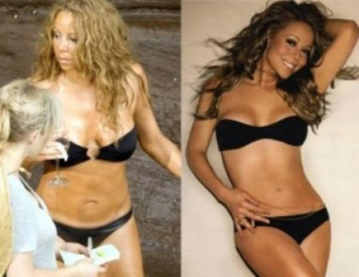 Stars πριν και μετά το ρετούς στην εικόνα τους