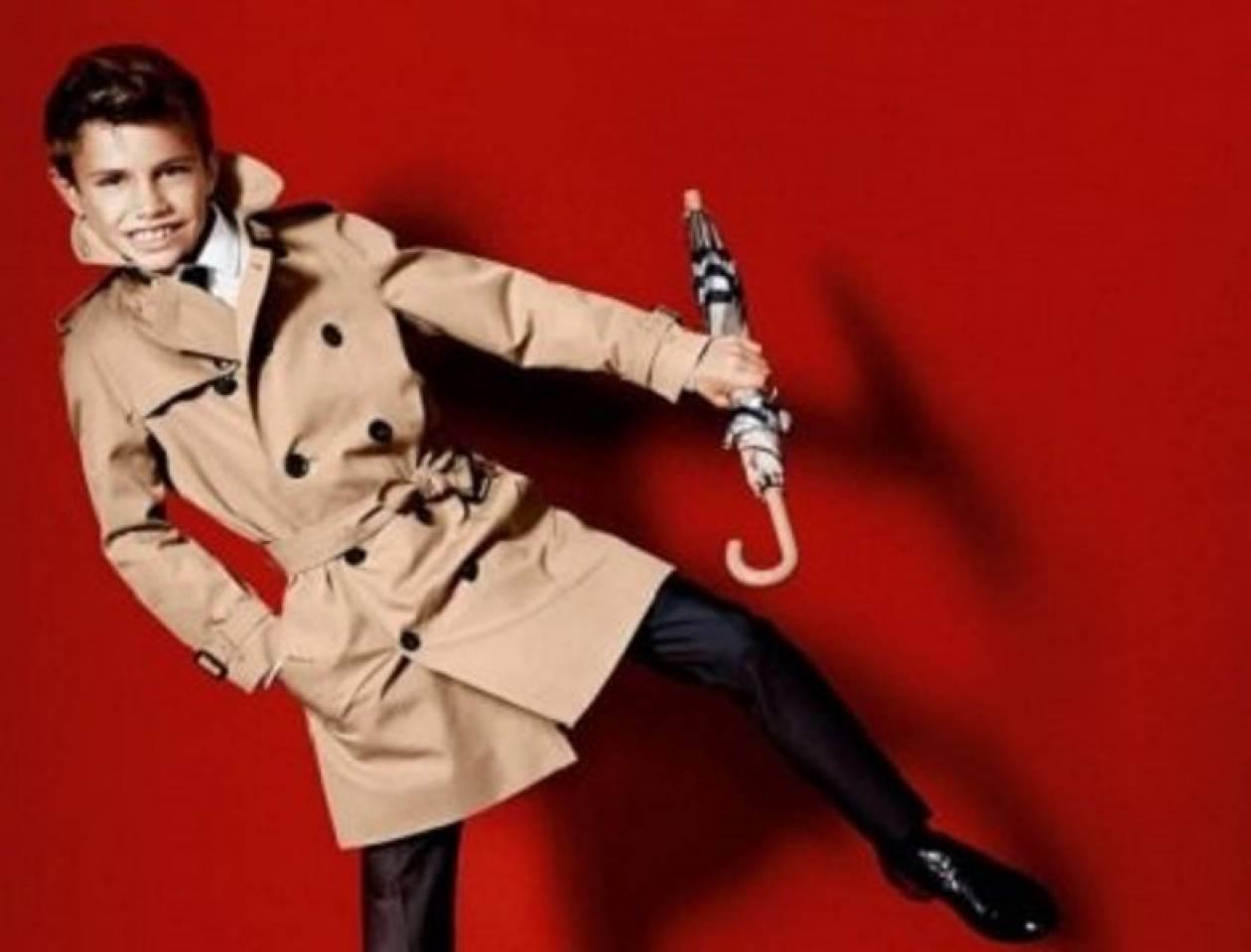 O Romeo Beckham στη νέα Burberry καμπάνια