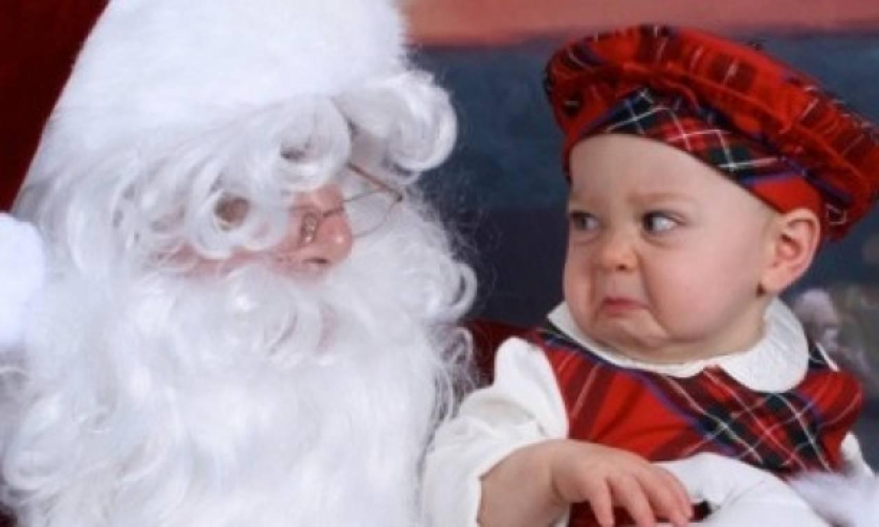 Όταν τα παιδιά τρομάζουν βλέποντας τον… Άγιο Βασίλη