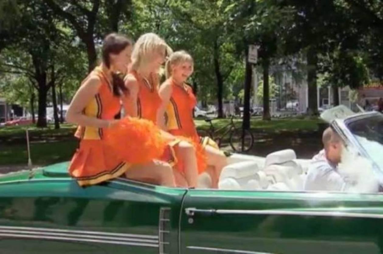 Oι cheerleaders προτίμησαν την αμαξάρα και την... πάτησαν! (video)