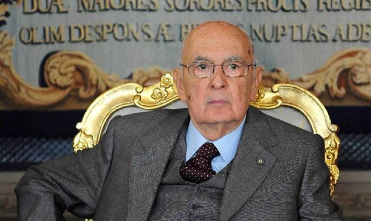 Ιταλία: Εκλογές την 24 Φεβρουαρίου «δείχνει» ο Ναπολιτάνο