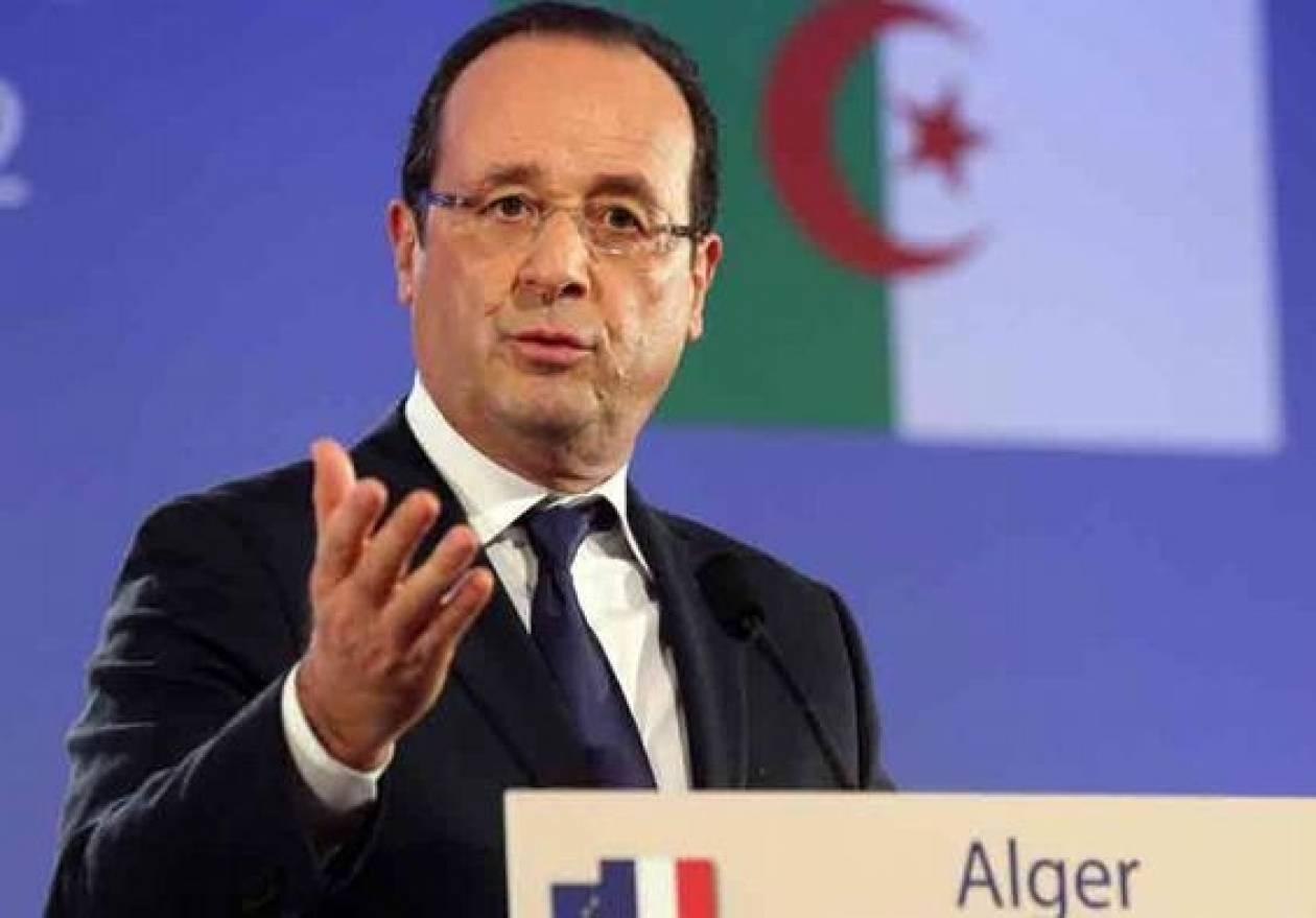 Ο Ολάντ αναγνώρισε τα «δεινά» της γαλλικής αποικιοκρατίας στην Αλγερία
