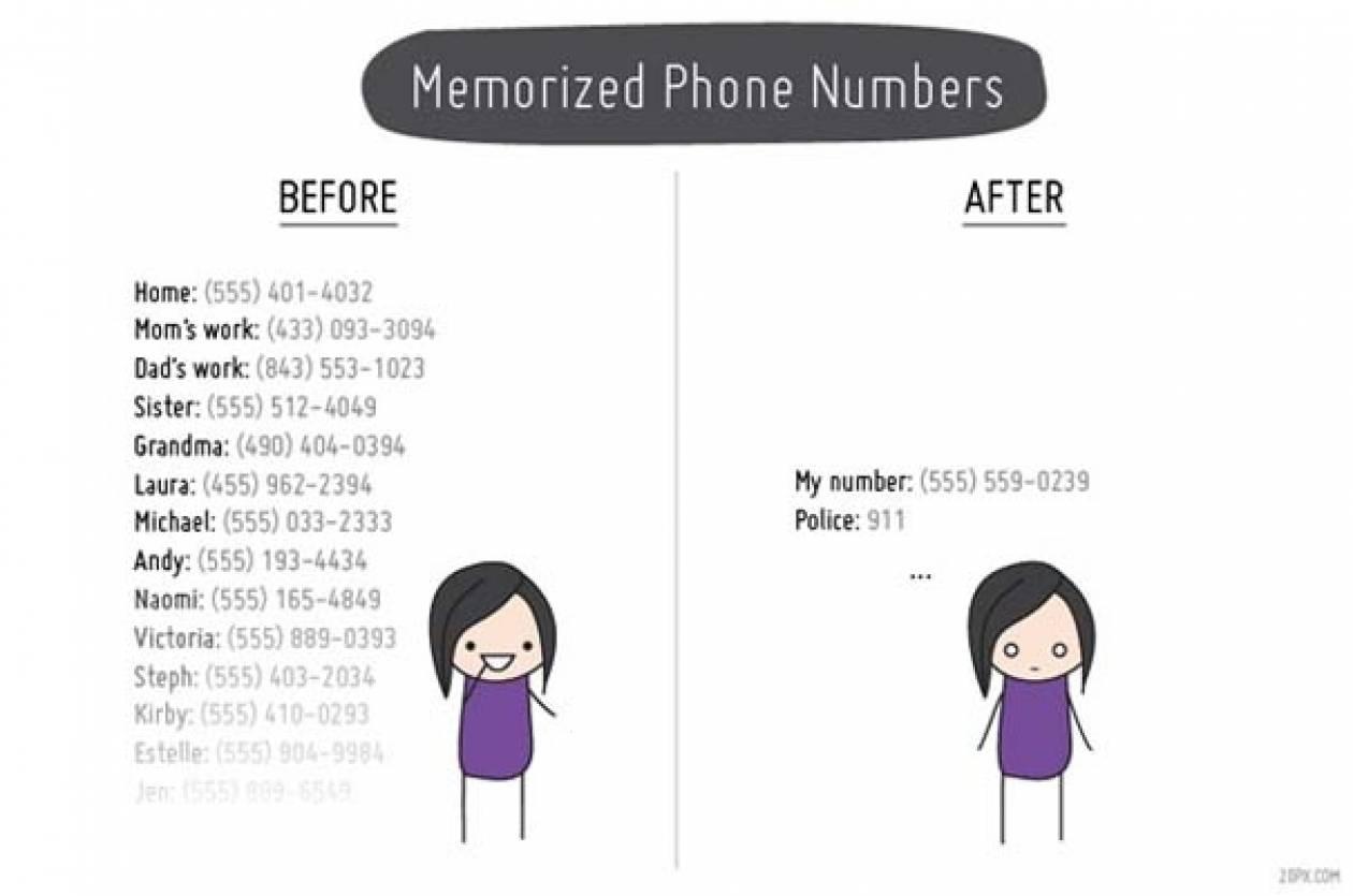 Η ζωή μας πριν και μετά τα κινητά τηλέφωνα (pics)
