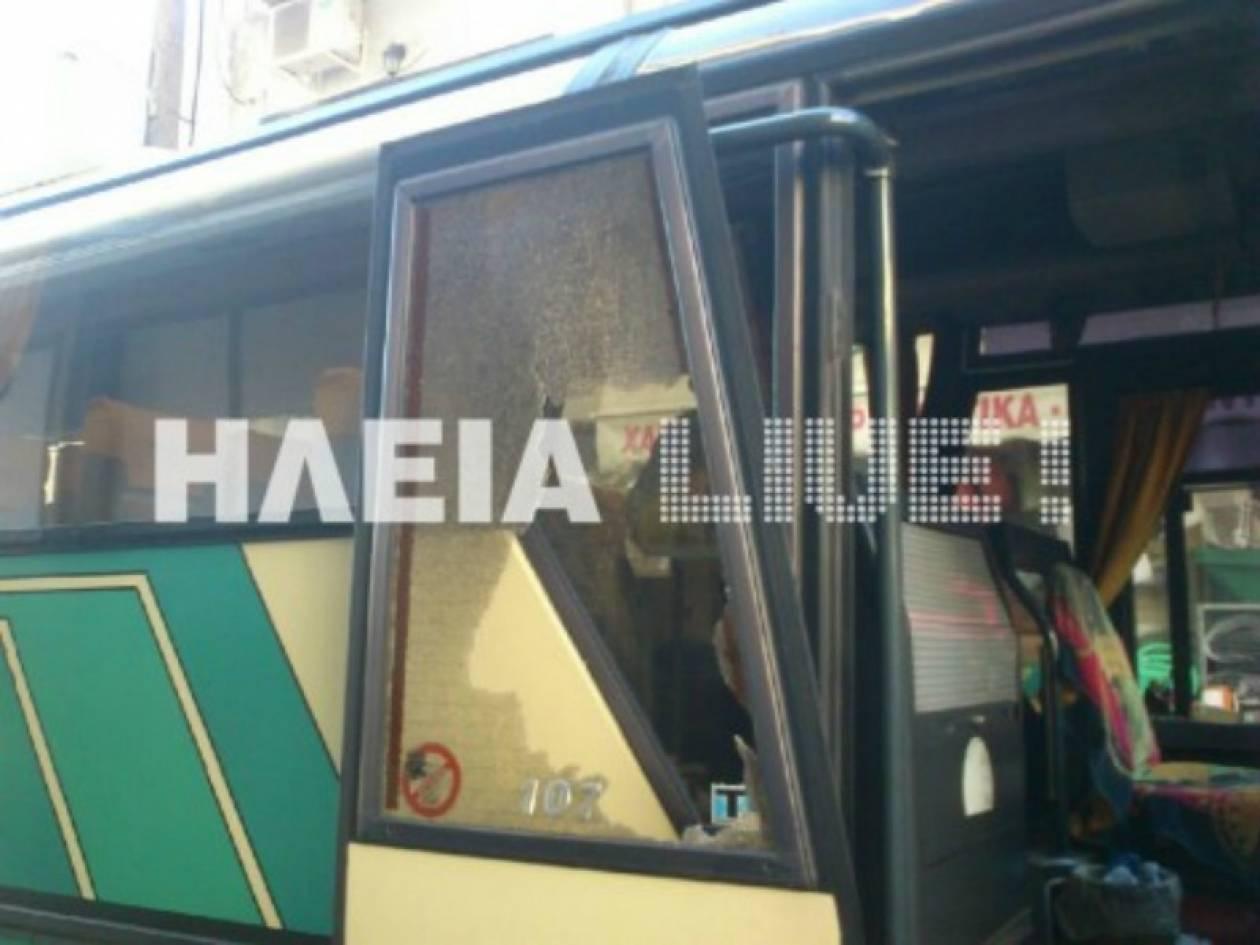 Ηλεία: Eπιτέθηκε σε λεωφορείο των ΚΤΕΛ με μαθητές
