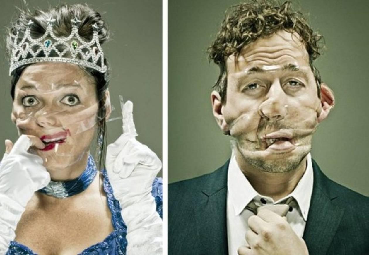 Μαντέψτε τι παραμόρφωσε τα πρόσωπά τους! (pics)