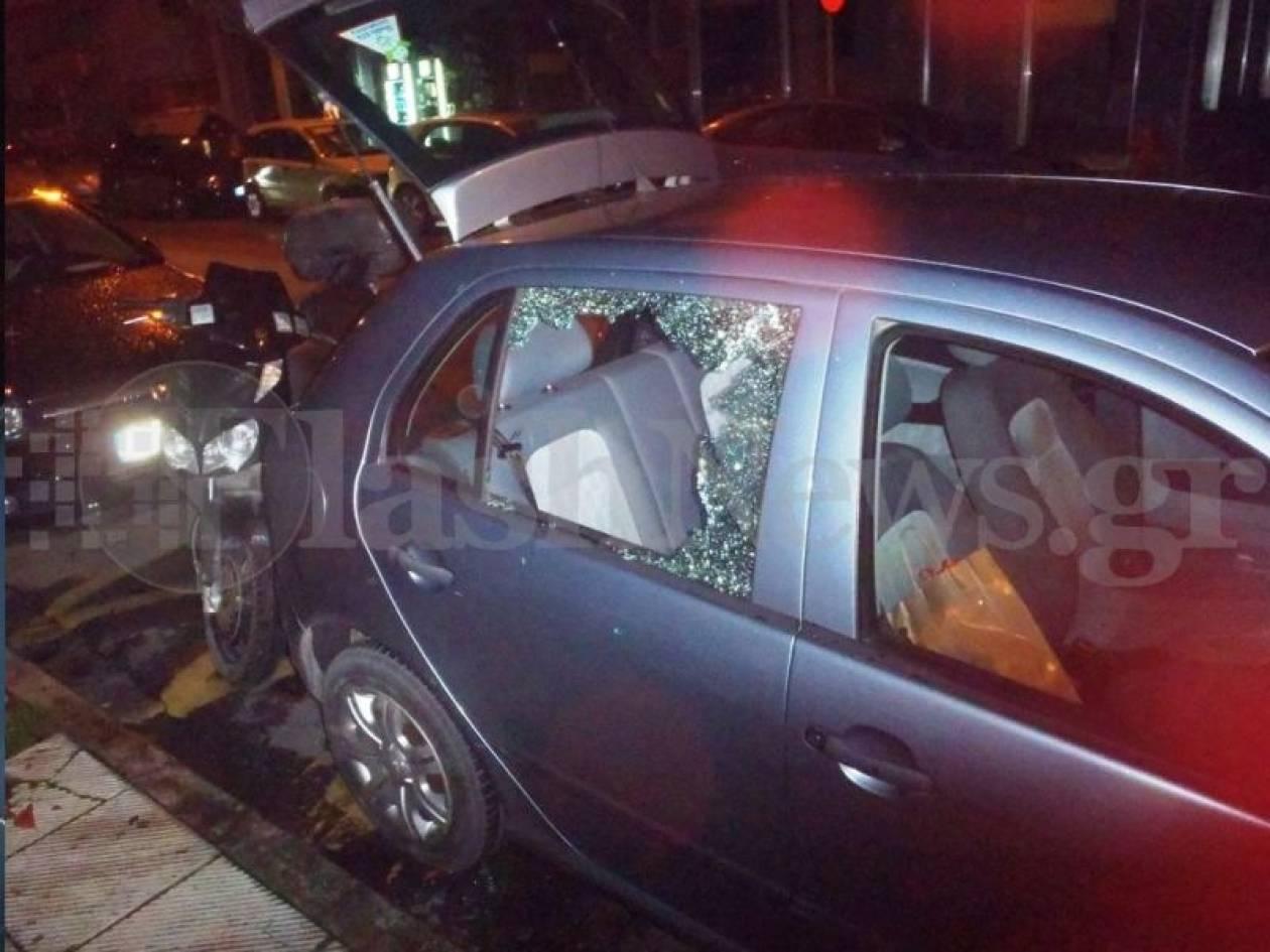 Έσπασαν και διέρρηξαν το αμάξι διαιτητή στα Χανιά(pics)