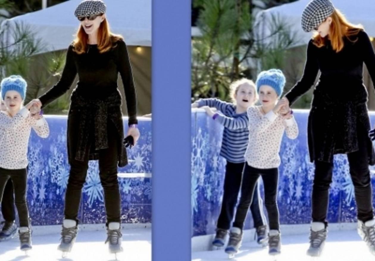 Βασίλισσες του χιονιού η Marcia Cross και οι δίδυμες κόρες της!