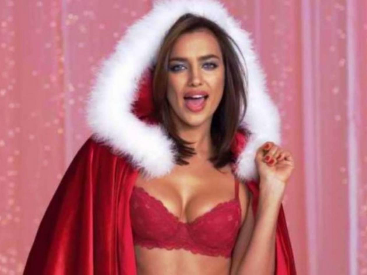 Μία hot vintage Ιρίνα στο κλίμα Χριστουγέννων (video)