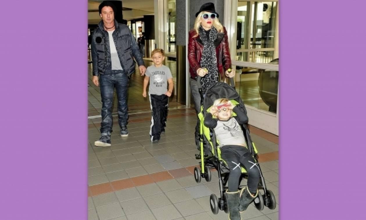 Gwen Stefani και οικογένεια... Έτοιμοι για διακοπές