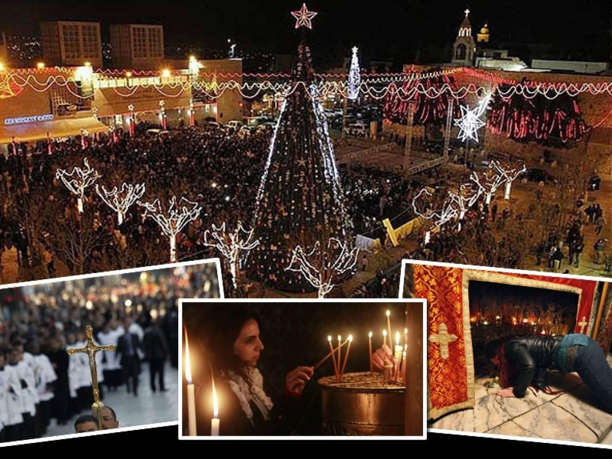 Χιλιάδες πιστοί από όλο τον κόσμο στην Βηθλεέμ