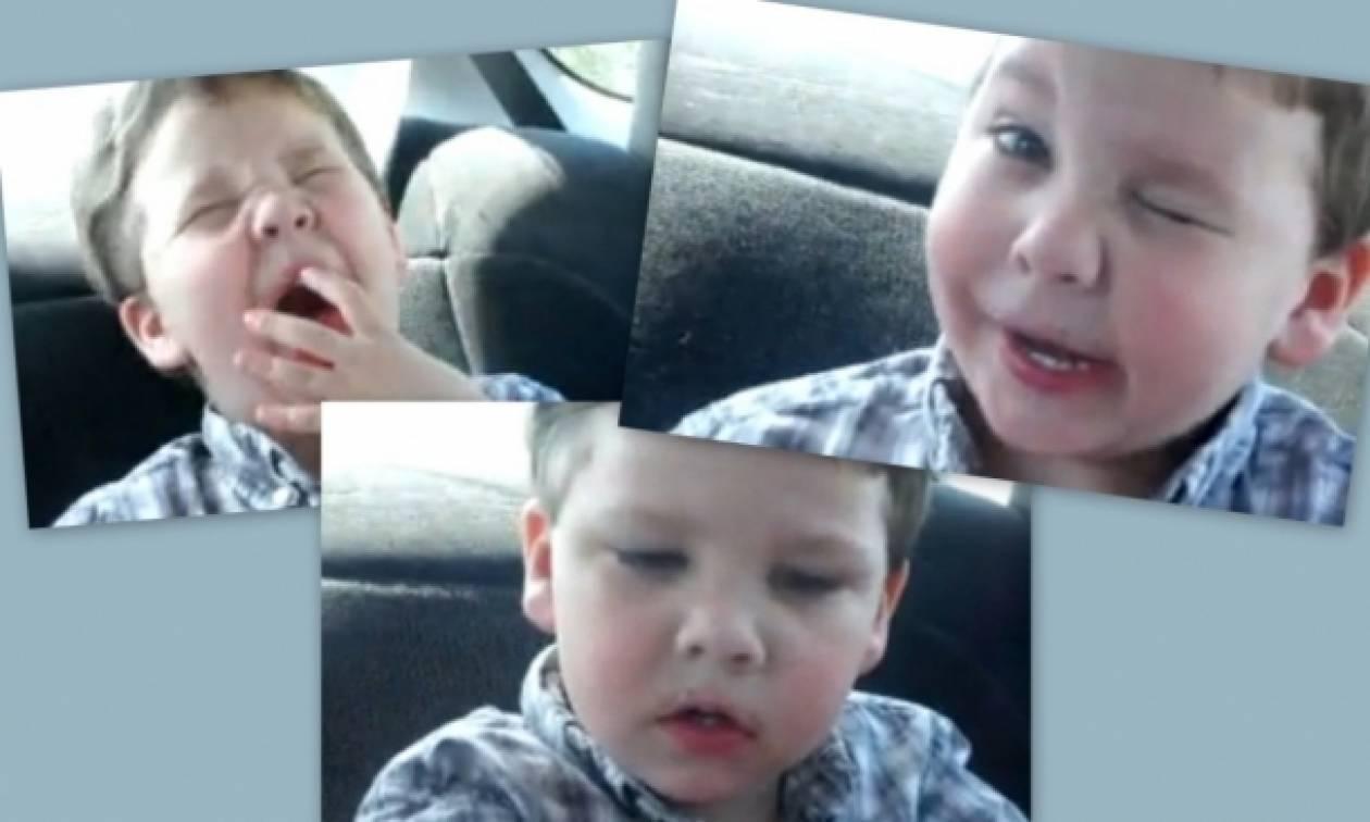 Δείτε πώς αντιδρά ένας πιτσιρικάς όταν τρώει μια «βρωμερή» καραμέλα!