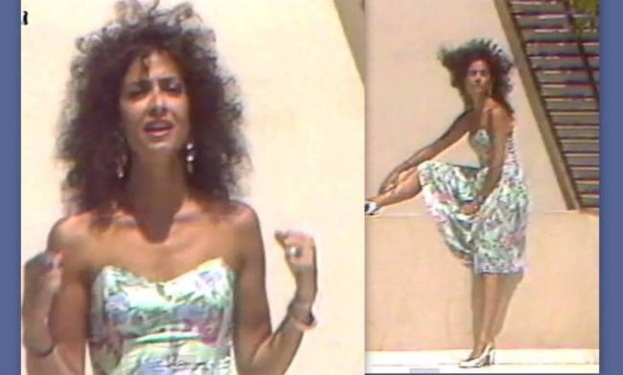 Η Άννα Βίσση με μαλλί αφάνα και φόρεμα... ταπετσαρία