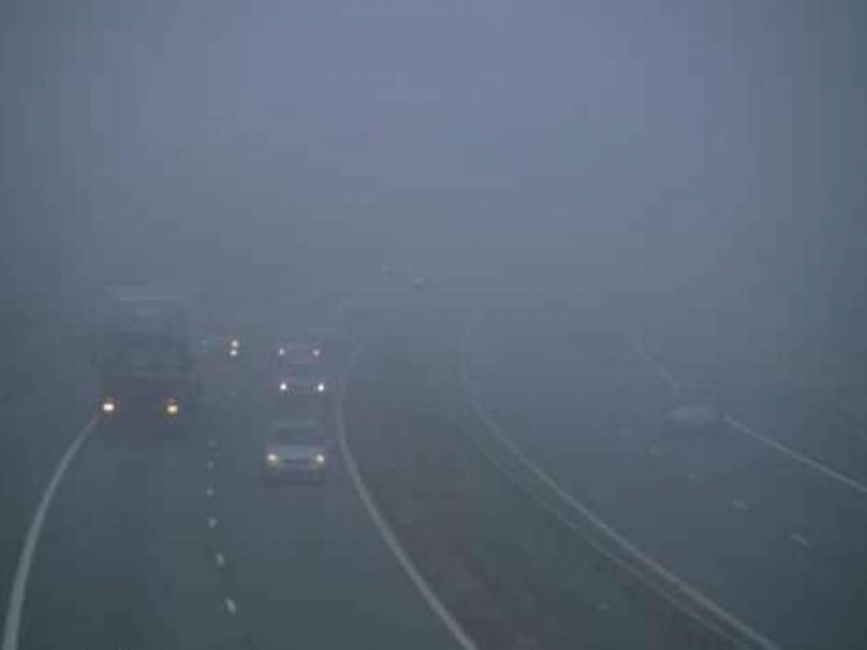 ΤΩΡΑ: Απίστευτη ομίχλη στην Ε.Ο. Αθηνών - Θεσ/νικης (pic)