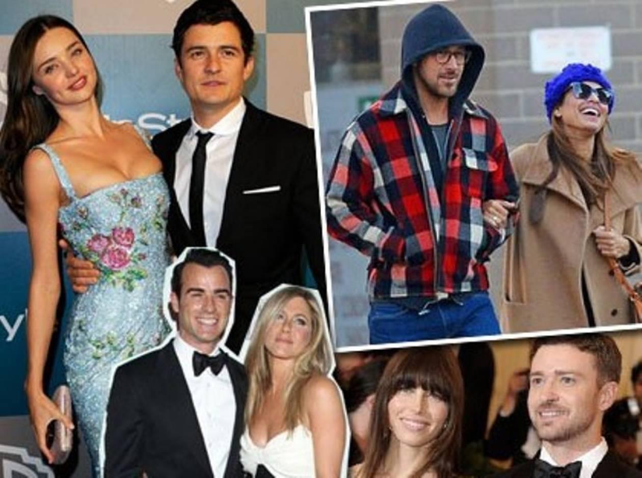 Τοp 5: Τα πιο sexy ζευγάρια του Hollywood